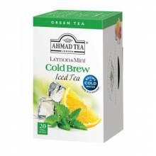 Ahmad Tea Cold Brew - zelený s citronem a mátou