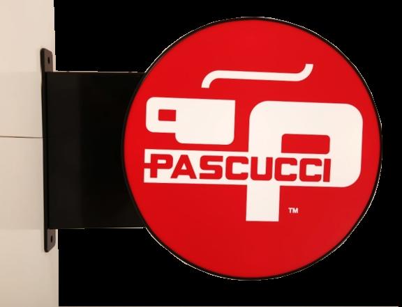 Venkovní světelný poutač Pascucci - výstrč
