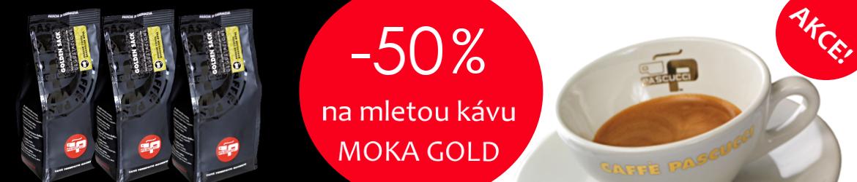 Listopadová akce PASCUCCI - mletá káva GOLD za polovinu